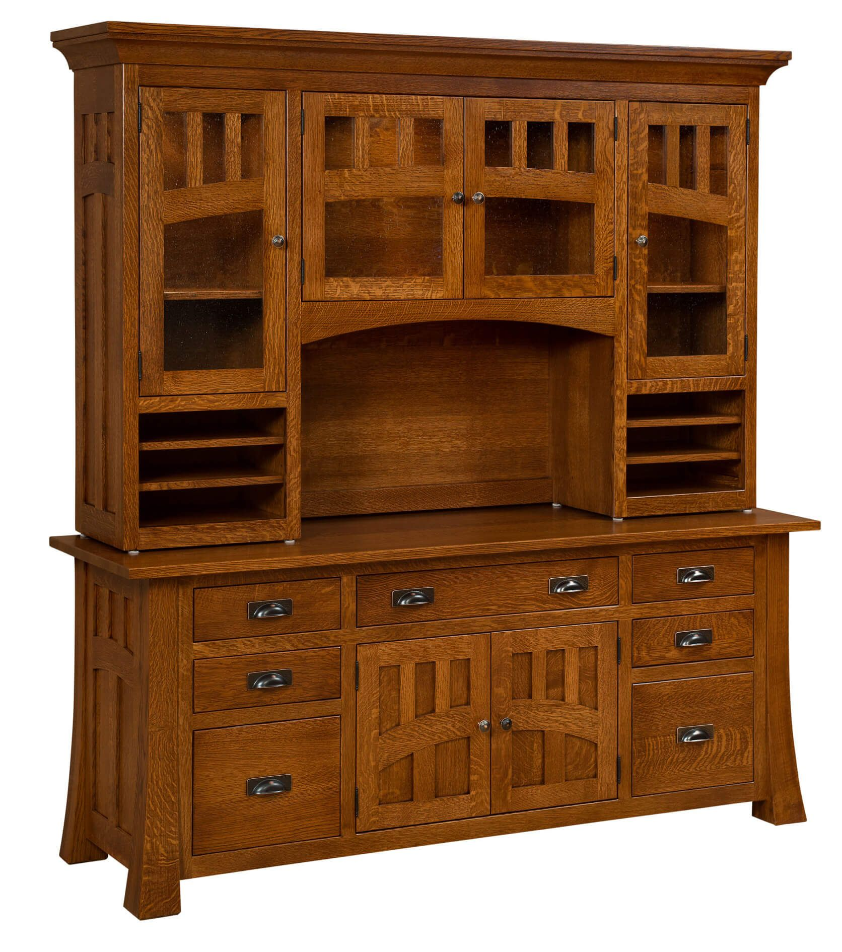 Mission Canyon Office Storage Credenza with Hutch