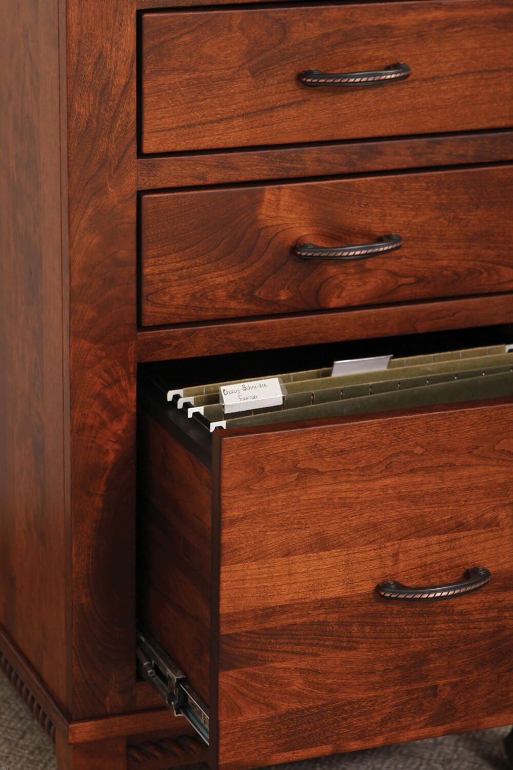 Letter-sized file drawer