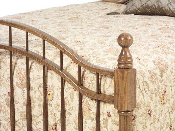 Amish Spindle Bed Footboard
