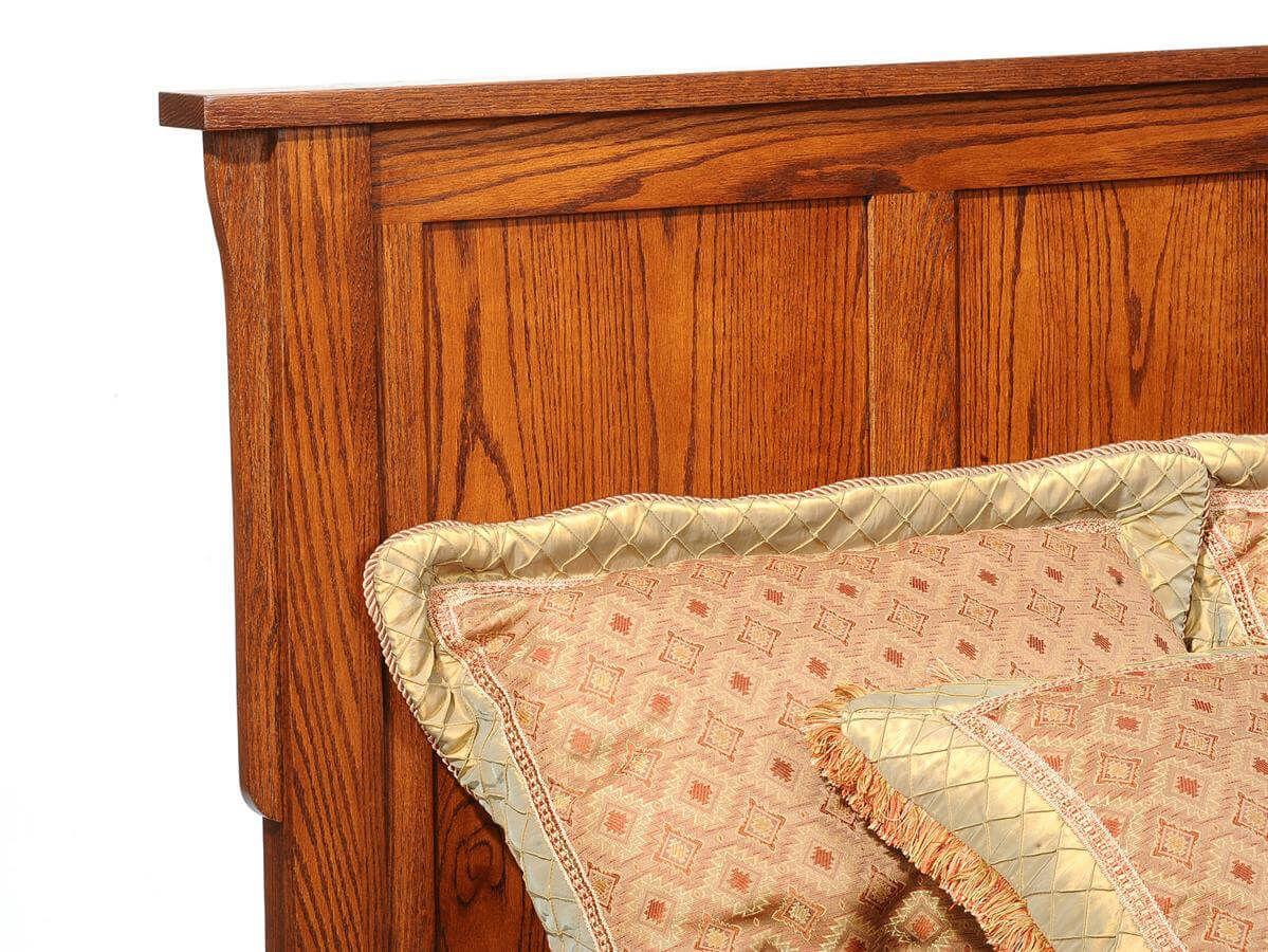 Barcelona Oak Platform Bed - Headboard Detail