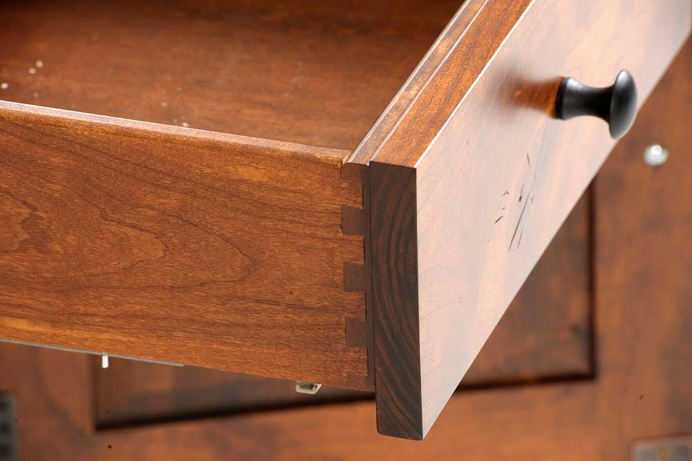 Dovetailed Joinery Detail - Palmina Chest on Chest