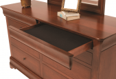 Includes 2 felt-lined, hidden jewelry drawers in trim