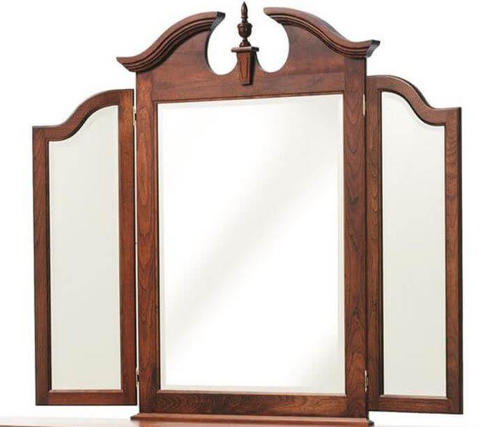 Elizabeth's Tradition Cherry Dresser -  Tri-Fold Mirror Detail