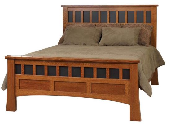 image description - Mission Canyon Oak Antique Bed - Countryside Amish Furniture