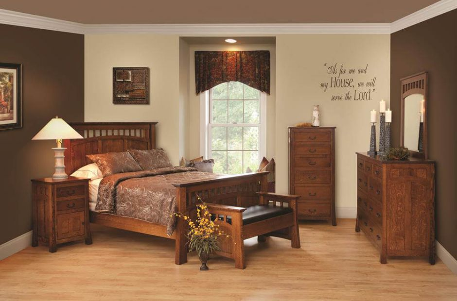 mission canyon bedroom set countryside amish furniture