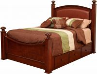 Madeline Leather Upholstered Bed