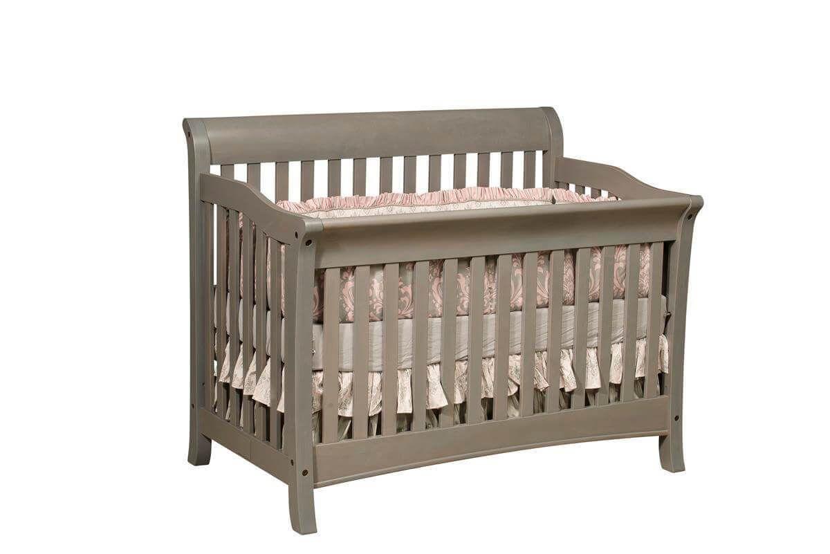 Luxembourg Grey Baby Crib