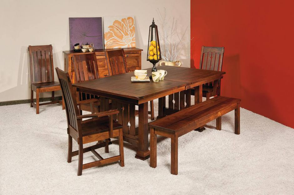 mission dining set features something for every dining room or kitchen