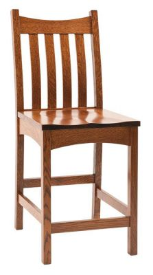 Omaha Mission Bar Chair in Oak
