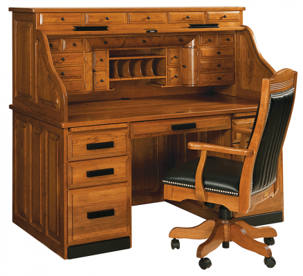 Clarion Custom Roll Top Desk Countryside Amish Furniture