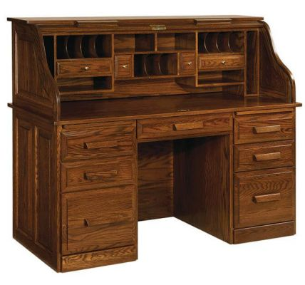 Creator's Roll Top Desk shown in Oak