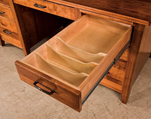 Silver Spring Desk With Hutch Top Countryside Amish Furniture