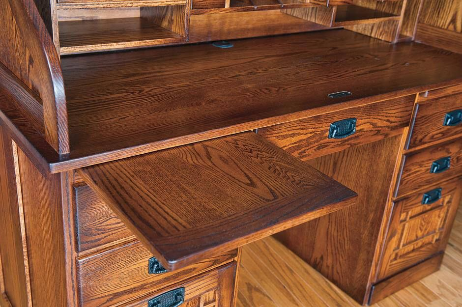 Pullout work surface