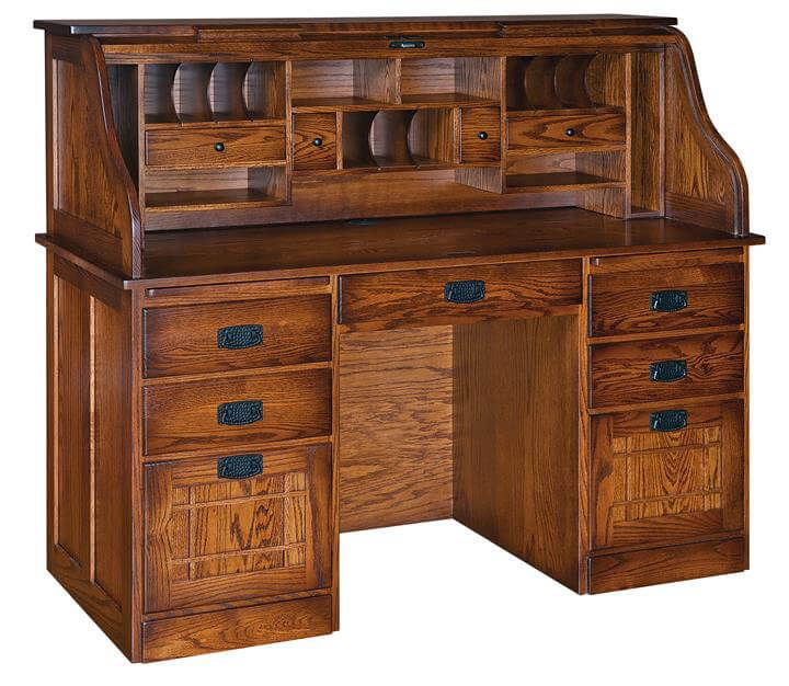 Wordsmith's Roll Top Desk in Oak