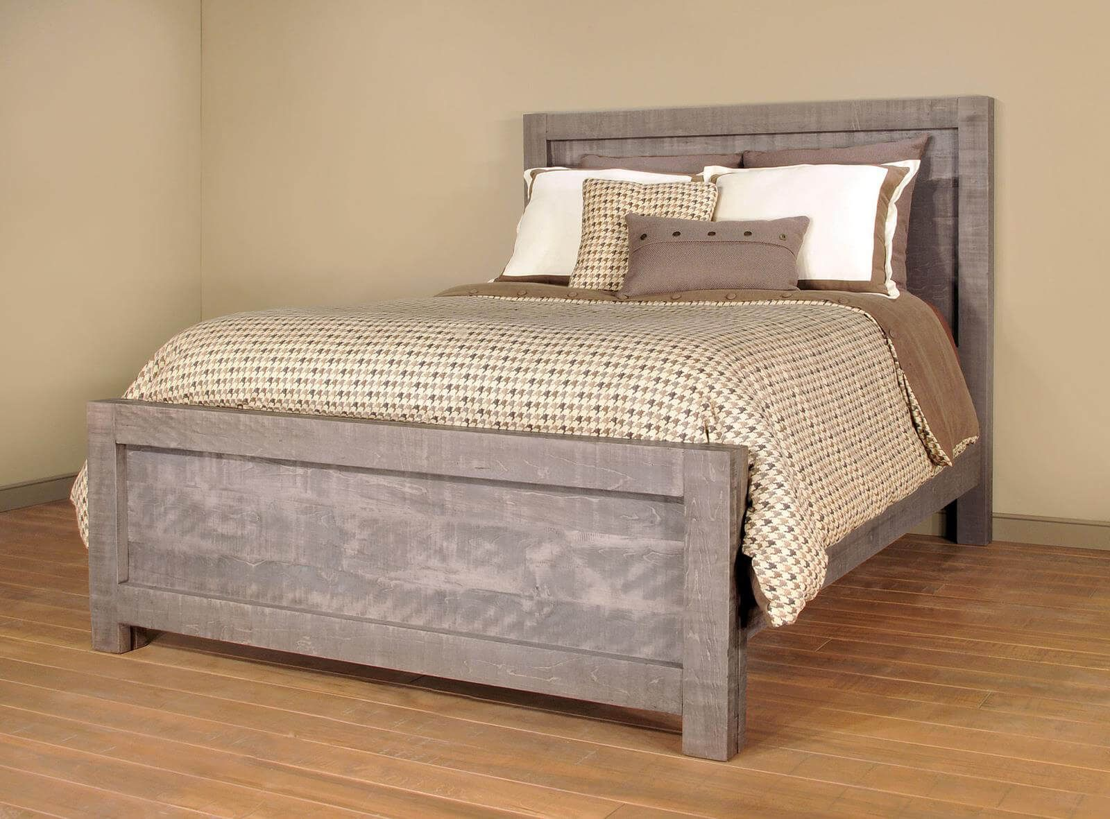 Rustic Gray Bed