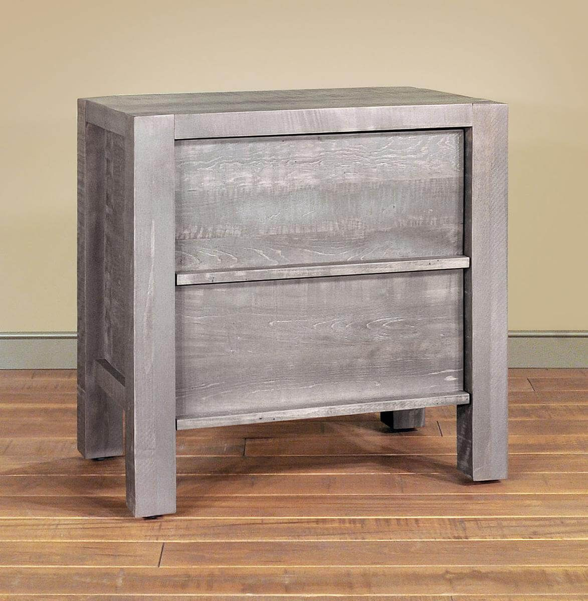 Gray Bedside Table