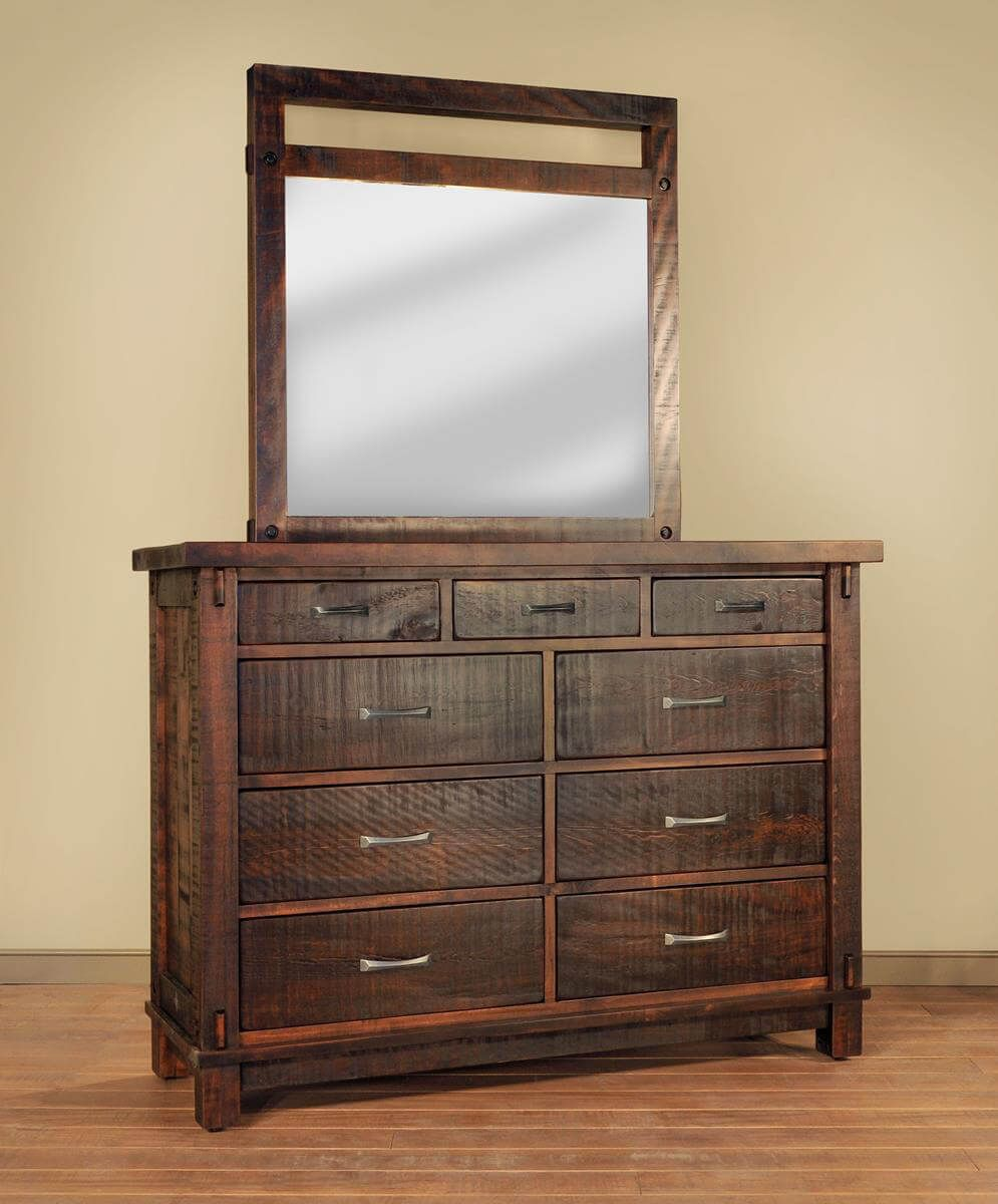 Lakemont Rustic Dresser with Mirror