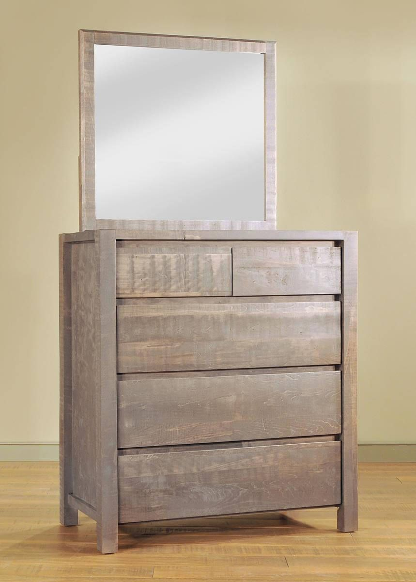 Rough Sawn Dresser with Mirror