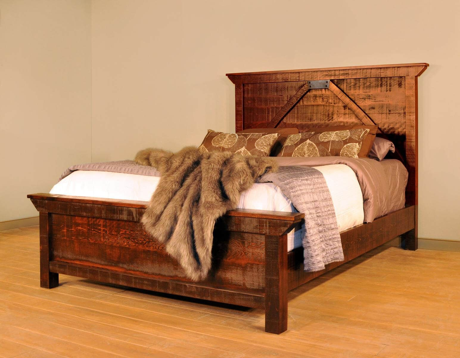 Rough Sawn Maple Bed