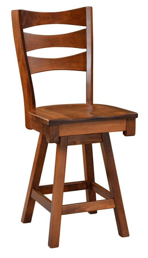 Kenai Amish Handmade Counter Stool