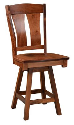Noma Swivel Pub Stool in Brown Maple