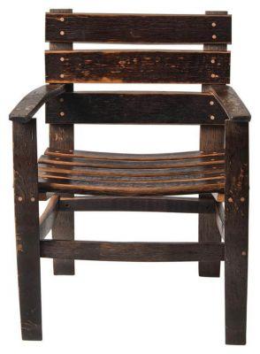 San Pedro Reclaimed Barrel Arm Chair