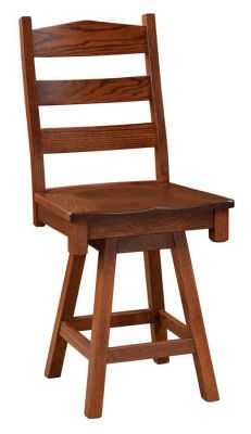 Waterville Swivel Ladder Back Counter Stool