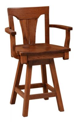 Whitehall Kitchen Counter Swivel Stool in solid wood