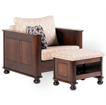 Amber Chair and Ottoman