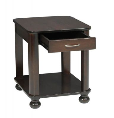 Amber End Table opened