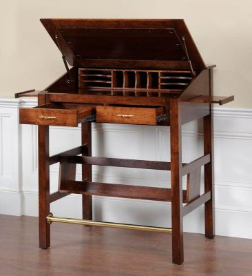 Anniston Solid Wood Stand Up Desk Countryside Amish