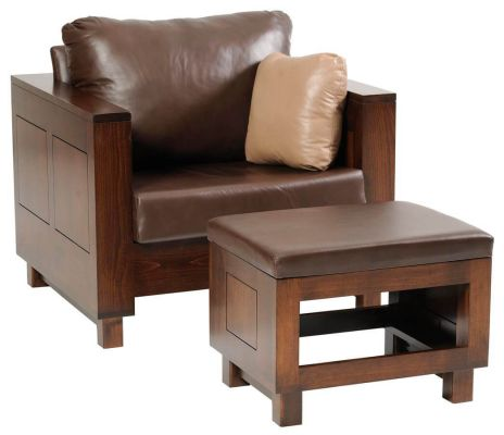 Cartier Chair and Ottoman