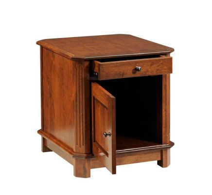 Manero End Table with Storage opened