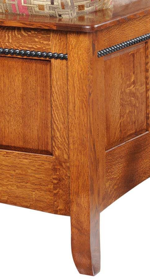 Richmond seating wood panel detail