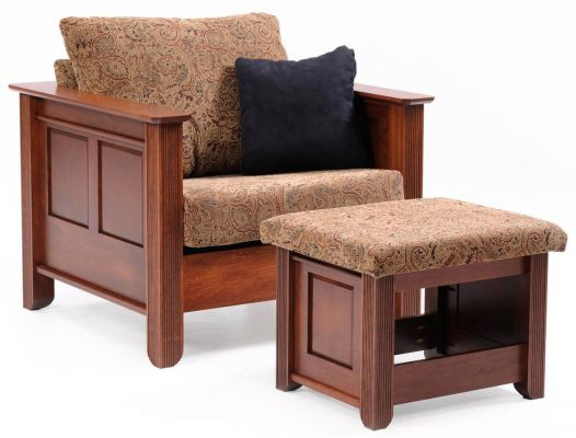 West Point Chair and Ottoman