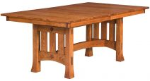 Mission Trestle Table with Butterfly Leaf