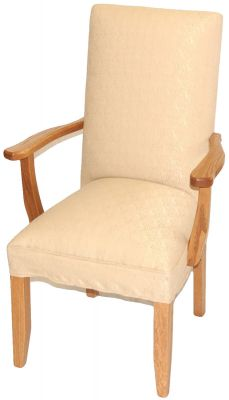 Chamber's Upholstered Dining Arm Chair