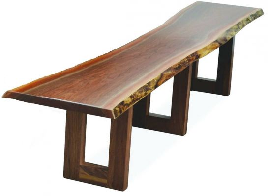 Lehigh Live Edge Kitchen Bench