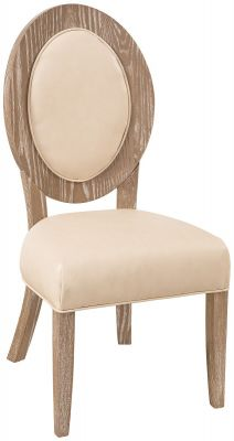 Ravello Upholstered Dining Chair Ivory Lace Leather