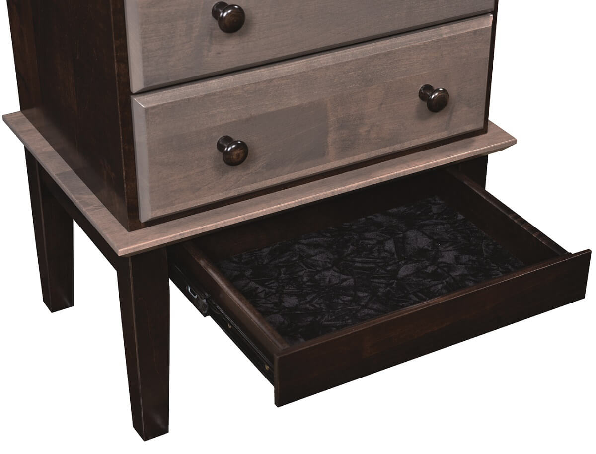 Arnos grove jewelry armoire countryside amish furniture for Hidden jewelry drawer